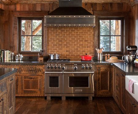 Kitchen tile backsplash designs for cabins and cottages for Cabin kitchen backsplash ideas